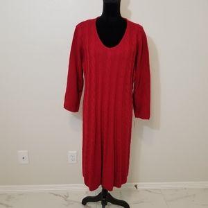 NWT plus size ronnie nicole red sweater dress